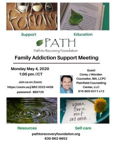 PATH Family Addiction Support Meeting-Zoom